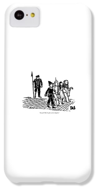 Wizard iPhone 5c Case - Captain Ahab Stands Speaking At The Yellow Brick by Drew Dernavich