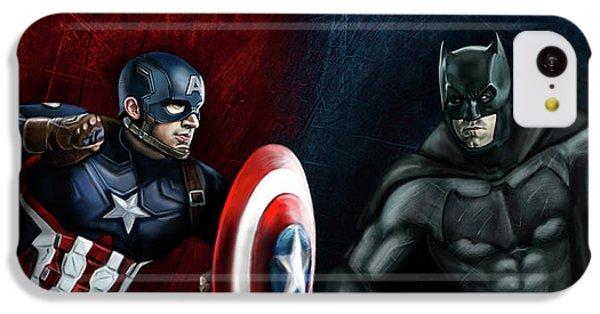 Captain America Vs Batman IPhone 5c Case by Vinny John Usuriello