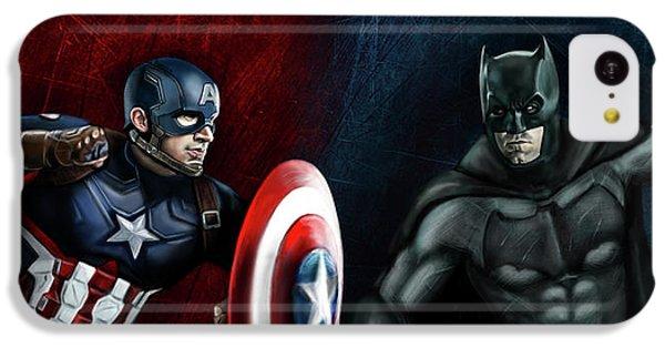 Captain America Vs Batman IPhone 5c Case