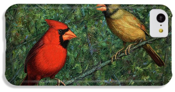 Cardinal Couple IPhone 5c Case by James W Johnson