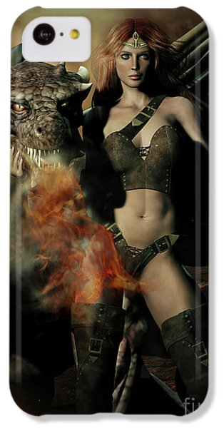 Careful He Burns IPhone 5c Case by Shanina Conway