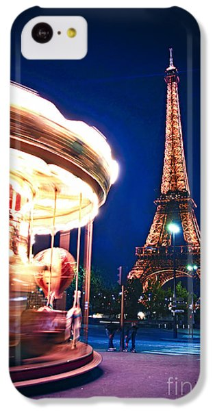 Carousel And Eiffel Tower IPhone 5c Case