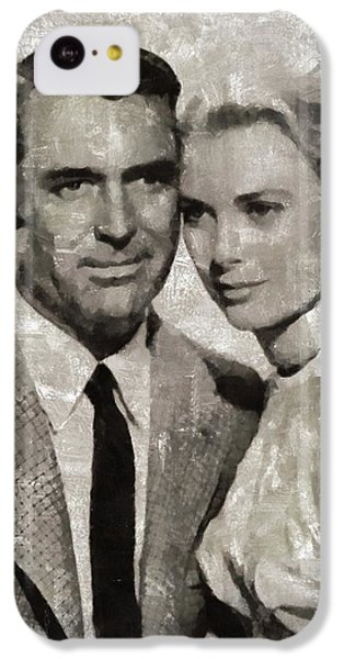 Grace Kelly iPhone 5c Case - Cary Grant And Grace Kelly, Hollywood Legends by Mary Bassett