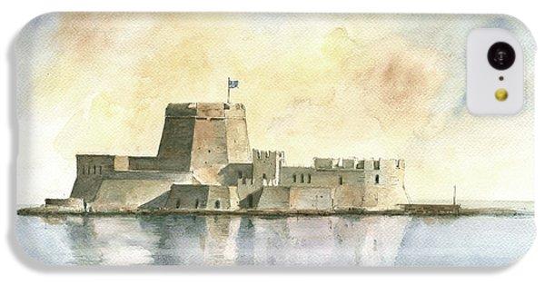 Castle Of Bourtzi In Nafplio IPhone 5c Case by Juan Bosco