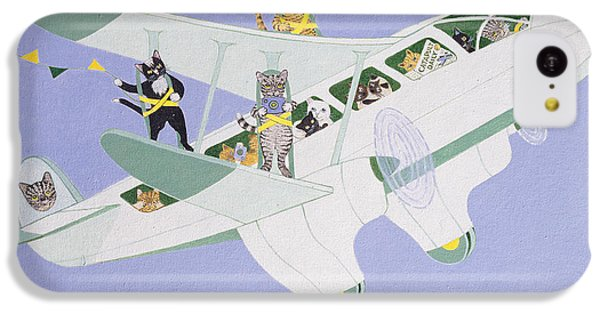 Cat Air Show IPhone 5c Case by Pat Scott