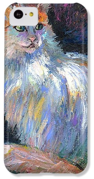 Cat In A Sun Painting By Svetlana IPhone 5c Case