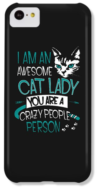 Cat Lady IPhone 5c Case