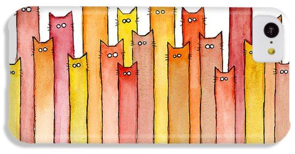 Orange iPhone 5c Case - Cats Autumn Colors by Olga Shvartsur