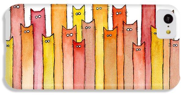Cat iPhone 5c Case - Cats Autumn Colors by Olga Shvartsur