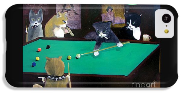 Cats Playing Pool IPhone 5c Case
