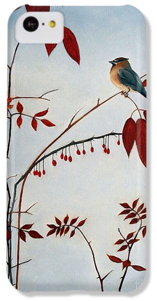 Cedar Waxwing IPhone 5c Case by Laura Tasheiko