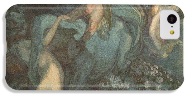 Centaur Nymphs And Cupid IPhone 5c Case by Franz von Bayros