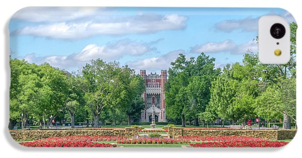 Oklahoma University iPhone 5c Case - Central Grounds And Gardens At University Of Oklahoma by Ken Wolter