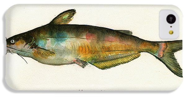 Channel Catfish Fish Animal Watercolor Painting IPhone 5c Case