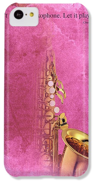 Charlie Parker Saxophone Light Red Vintage Poster And Quote, Gift For Musicians IPhone 5c Case by Pablo Franchi