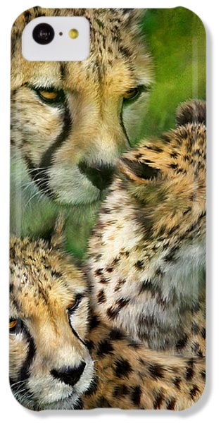 Cheetah Moods IPhone 5c Case by Carol Cavalaris