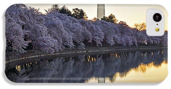 Washington Monument iPhone 5c Case - Cherry Blossom Festival - Washington Dc by Brendan Reals