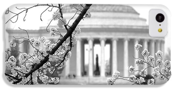 Jefferson Memorial iPhone 5c Case - Cherry Tree And Jefferson Memorial Elegance  by Olivier Le Queinec
