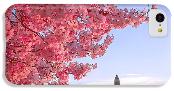 Cherry Tree And The Washington Monument  IPhone 5c Case by Olivier Le Queinec