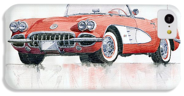 Chevrolet Corvette C1 1960  IPhone 5c Case by Yuriy  Shevchuk