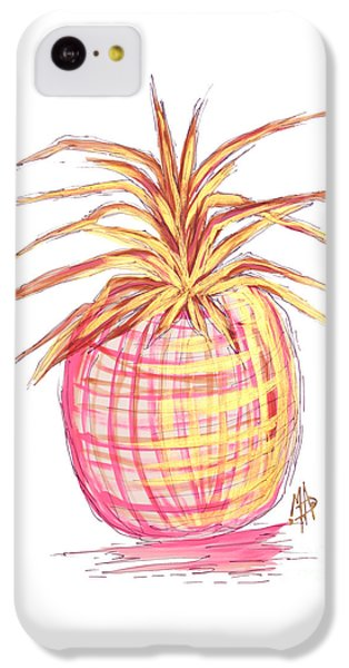 Chic Pink Metallic Gold Pineapple Fruit Wall Art Aroon Melane 2015 Collection By Madart IPhone 5c Case