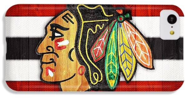 Chicago Blackhawks Barn Door IPhone 5c Case by Dan Sproul