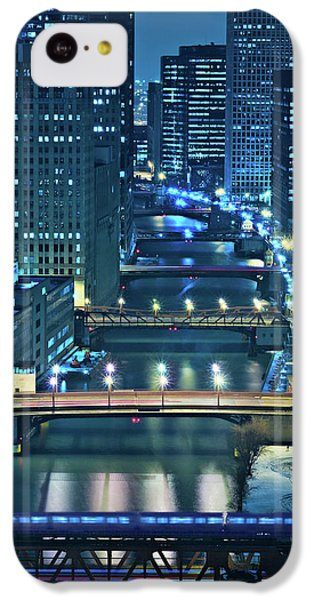 Chicago Bridges IPhone 5c Case by Steve Gadomski