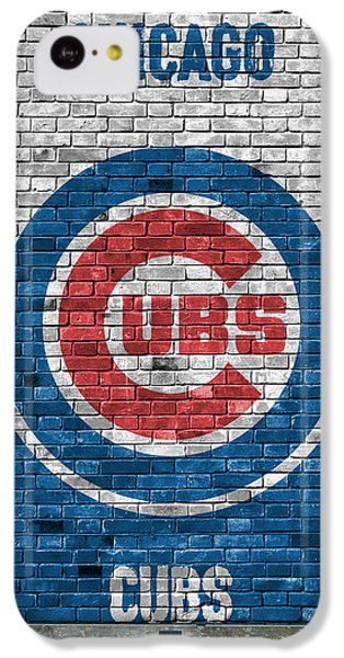Chicago Cubs Brick Wall IPhone 5c Case by Joe Hamilton