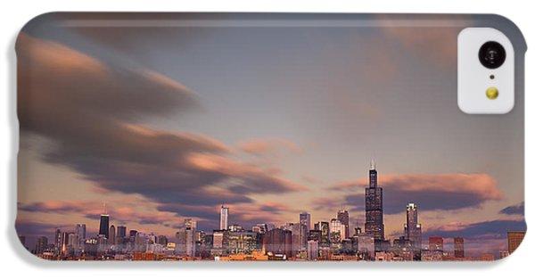 City Sunset iPhone 5c Case - Chicago Dusk by Steve Gadomski