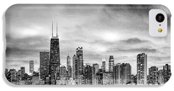 Chicago Gotham City Skyline Black And White Panorama IPhone 5c Case by Christopher Arndt