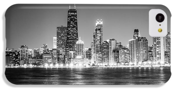 Chicago Lakefront Skyline Black And White Photo IPhone 5c Case