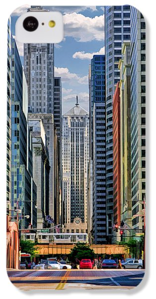 IPhone 5c Case featuring the painting Chicago Lasalle Street by Christopher Arndt