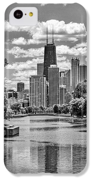 IPhone 5c Case featuring the painting Chicago Lincoln Park Lagoon Black And White by Christopher Arndt