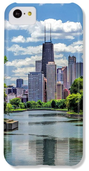 IPhone 5c Case featuring the painting Chicago Lincoln Park Lagoon by Christopher Arndt