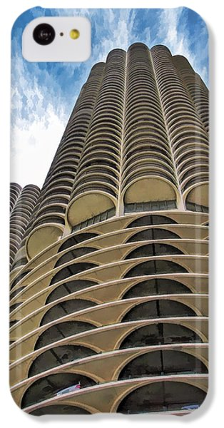 IPhone 5c Case featuring the painting Chicago Marina Towers by Christopher Arndt