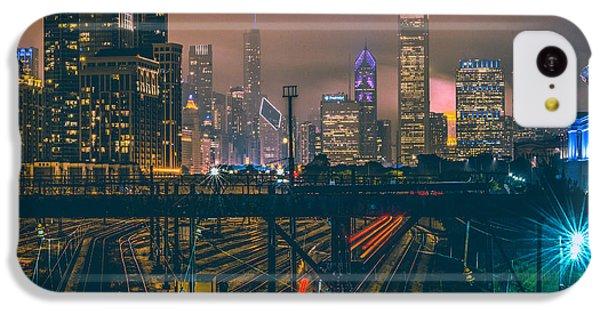 Transportation iPhone 5c Case - Chicago Night Skyline  by Cory Dewald