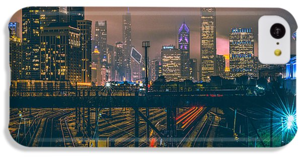 Chicago Night Skyline  IPhone 5c Case by Cory Dewald