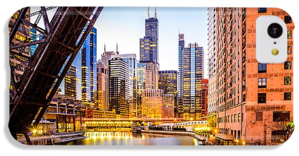 Chicago Skyline At Night And Kinzie Bridge IPhone 5c Case