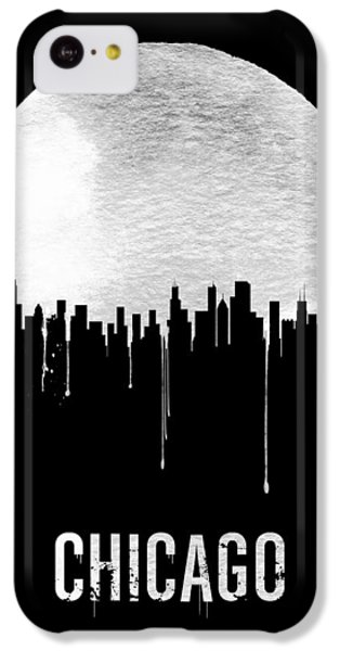 Chicago iPhone 5c Case - Chicago Skyline Black by Naxart Studio