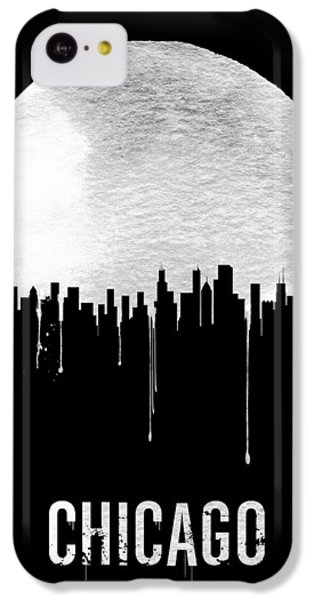 Chicago Skyline Black IPhone 5c Case by Naxart Studio