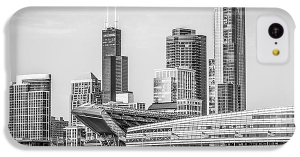 Chicago Skyline With Soldier Field And Willis Tower  IPhone 5c Case by Paul Velgos