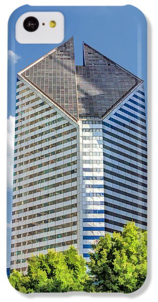 IPhone 5c Case featuring the painting Chicago Smurfit-stone Building by Christopher Arndt