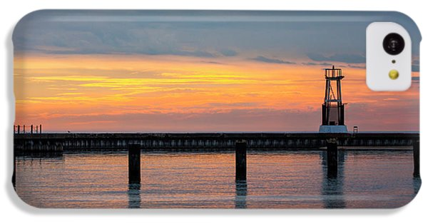 IPhone 5c Case featuring the photograph Chicago Sunrise At North Ave. Beach by Adam Romanowicz