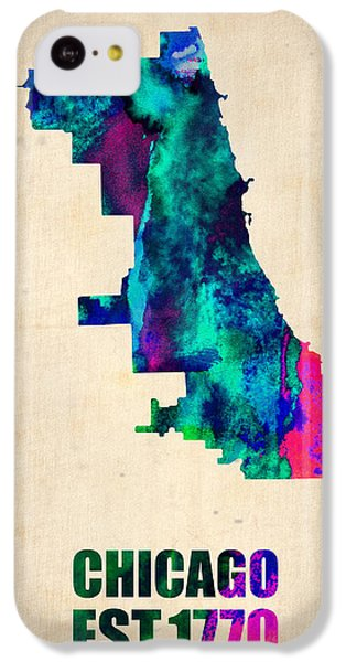 Chicago Watercolor Map IPhone 5c Case by Naxart Studio