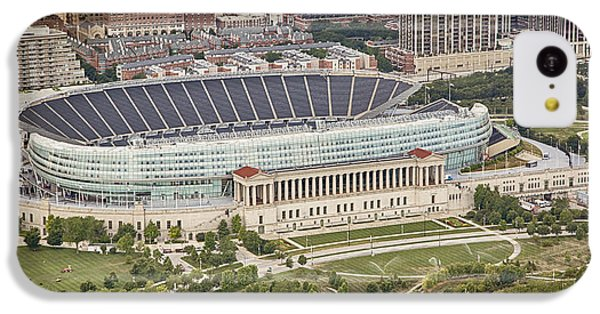 IPhone 5c Case featuring the photograph Chicago's Soldier Field Aerial by Adam Romanowicz
