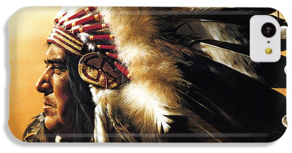 Portraits iPhone 5c Case - Chief by Greg Olsen