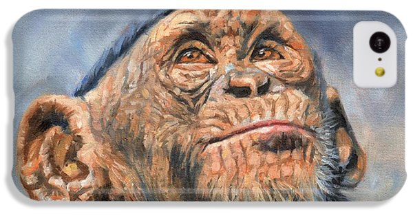 Chimp IPhone 5c Case by David Stribbling