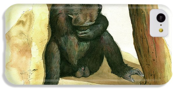 Chimp IPhone 5c Case by Juan Bosco