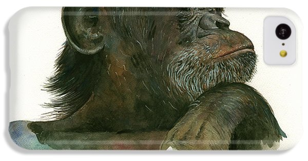 Chimp Portrait IPhone 5c Case by Juan Bosco