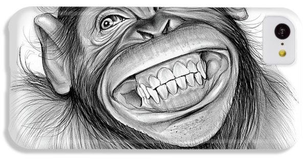 Chimpanzee iPhone 5c Case - Chimpanzee by Greg Joens